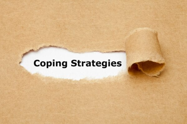 coping strategies torn paper image